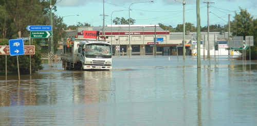 A second wave of flooding has hit Chinchilla, leaving residents to start the clean-up all over again.