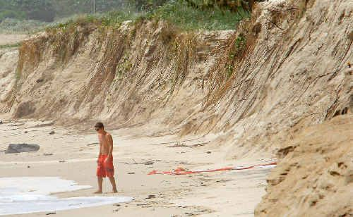 Duranbah beach is expected to be 'smashed' by large surf.