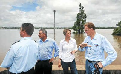 NSW Premier Kristina Keneally made the trip to Grafton yesterday to inspect the devastation herself.
