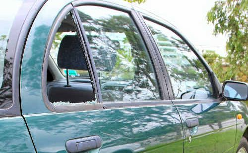 It appears that a wine bottle was used to break into cars parked at McFarlane Bridge.
