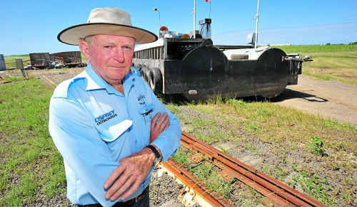 Midtown Marinas principal Ray Foley was surprised to find his fuel barge in the middle of a Fairymead cane paddock after it had been swept away by floodwaters.