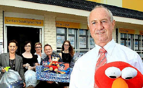 David Lawley and the team at L J Hooker Currumbin have pitched in to help flooding victims in Gladstone.