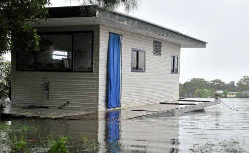 Relentless rain lashes the Sunshine Coast.
