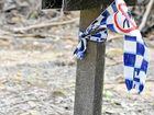 Police tape gives stark reminder