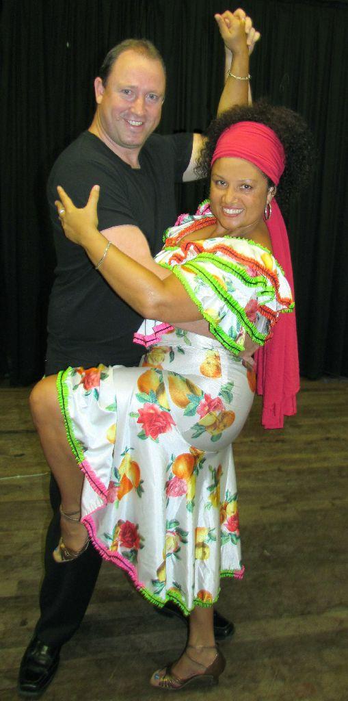 Michael Close and Christine Monneron are salsa partners.