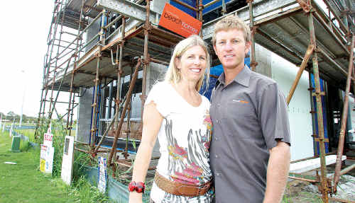 Anna and Rob Oliver are the first to build in Amity Avenue Maroochydore.