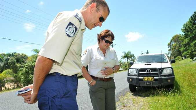 RSPCA inspector Andrew Kelly and NPWS ranger Ann Walton investigate another kangaroo killing.