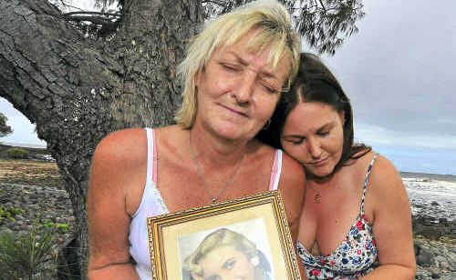 Sue Lawrence and her daughter Chelsea Parkin are distraught by the treatment council has shown towards them regarding Sue's mother's memorial at Sharky's Beach, Burnett Heads.