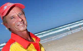 Alert: Cabarita Beach lifesavers John Harbison (left) and Joel Clark.