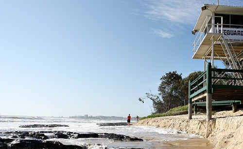 Maroochydore Beach is under threat from the highest tides of the year over the next five days.