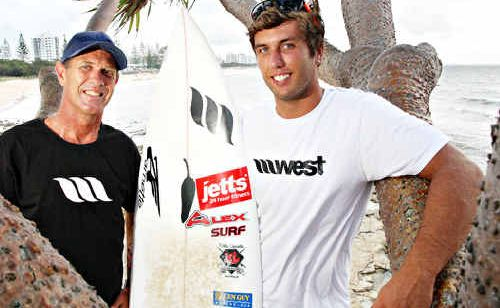 Josh Sherwell is striving to form a professional career in surfing, just like his dad, Robbie.
