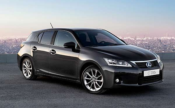 The Lexus CT200h.