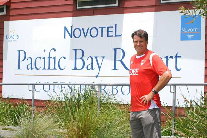Sydney Swans coach Paul Roos at Pacific Bay resort.