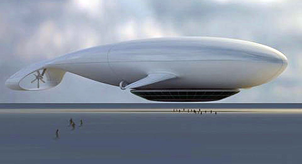 Jean-Marie Massaud's design for a Manned Cloud, which would provide travel that is so quiet the surrounding world wouldn't realise you've even passed by.