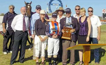 Riding to win: Kiwi jockey Tasha Collett has gone on to big things since winning the Iris Neilsen Memorial on Rare Diamond in 2010.