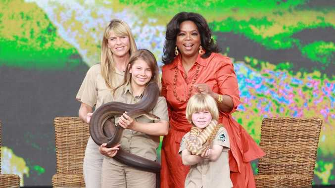 The Irwin family take wildlife and the Sunshine Coast to Oprah Show.