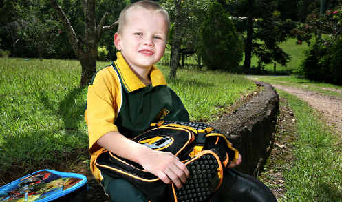 Cameron Voller was born premature and given only a 10% chance of survival, today he starts school at Yandina State Primary school.