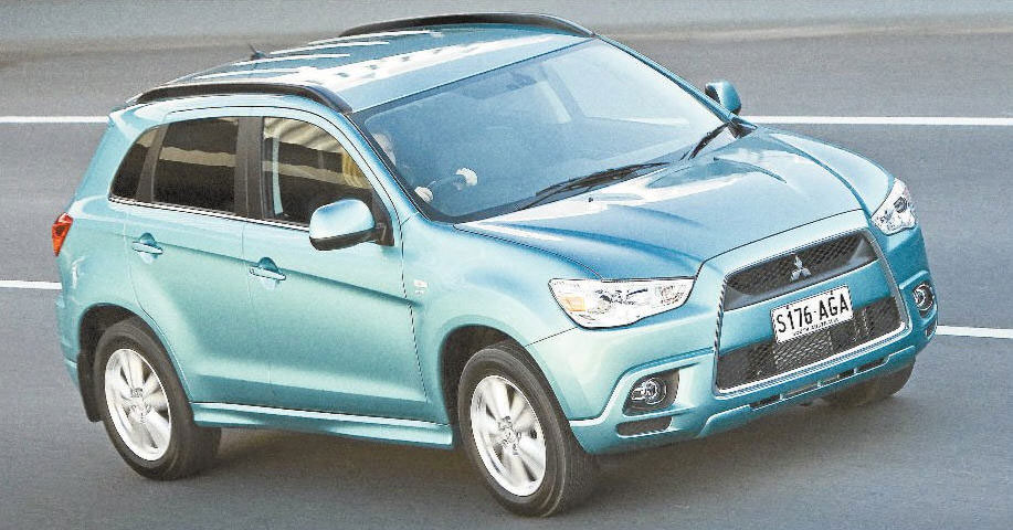 Nice looker: with its jet-plane grill and sleek lines the ASX is likely to turn heads.