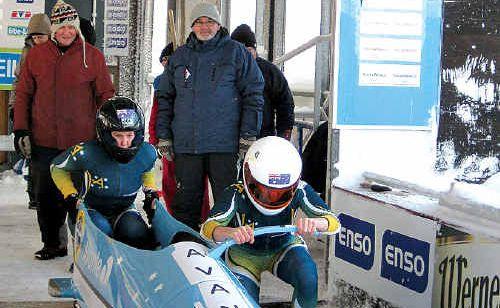 The Australian women's bobsled team.