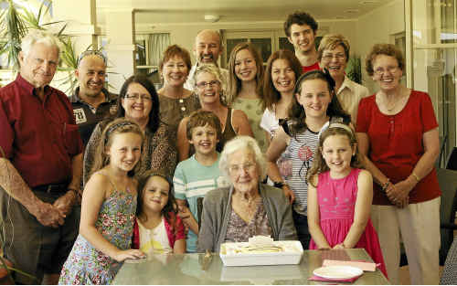 Evelyn Shaw celebrated her 102nd birthday with her extended family and friends.