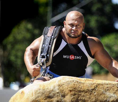Strongman Derek Boyer.