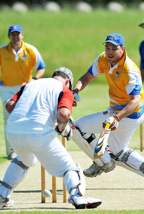 Fundraiser: Sawtell and the Legends XI were having a ball at the Twenty20 Charity Cup knockout.