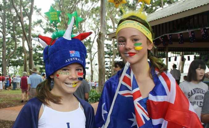 Jillian Seaniger and Teegan Hudson have fun at Picnic Point park.