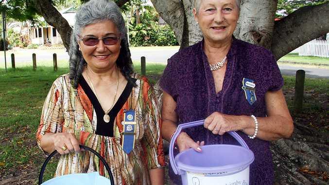 Mullumbimby CWA president June Leroy and secretary Andrea Danvers.