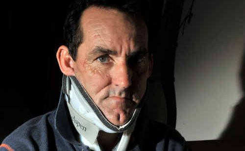 Jockey Ken Sawyer has been in extreme pain after a fall at Corbould Park last Sunday.