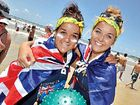 Melissa and Sophie Tieman get wrapped up in the spirit of Australia Day.