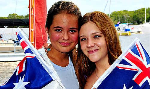 Annika Buser and Connah Byrne at Noosaville Lions Park.