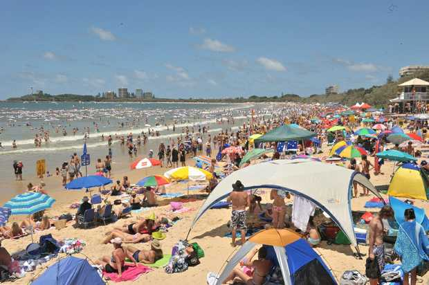 Australia Day at Mooloolaba Beach.