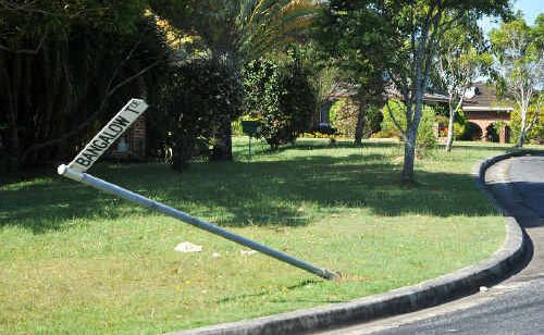 Residents are helping the law to catch two boys who damaged road signs in Sawtell.