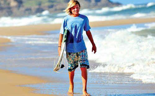 Sunrise Beach under-13 surfer Quinn Bruce.