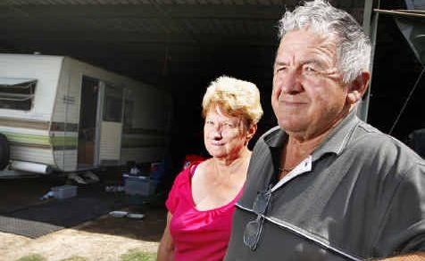 Barry and Lyn Jones of North Booval had a cherished garden statue stolen from their property.