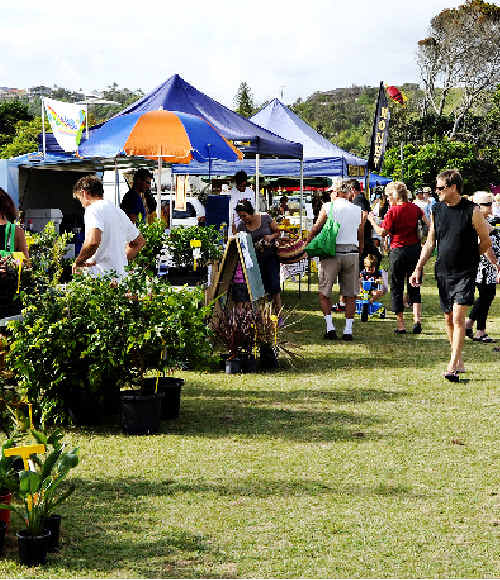 Market forces: The Lennox Head farmers' market at Williams Reserve on Sunday is one of the many markets in the region.