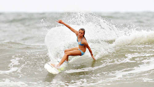 Mooloolaba surfer Keely Andrew, 16, has been getting some great competition results.