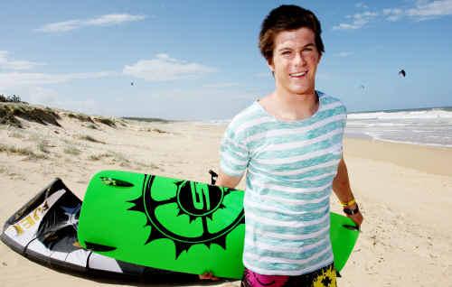WORLD NO.1: Bokarina kiteboarder Andy Yates is the senior Sunshine Coast Sports Star of the Year.