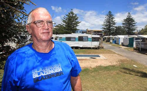 Long-term casual site holder Allan Schmidt has been evicted from Kingscliff Beach Holiday Park.