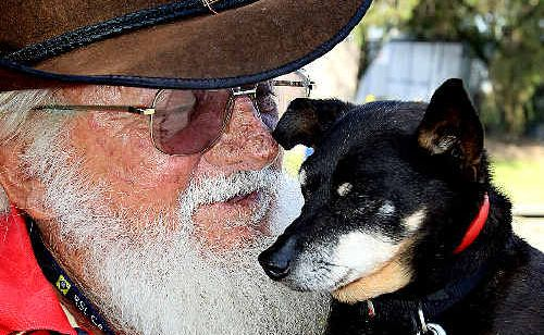 George Liddle and Butch have been reunited after kind strangers led Butch to a South Tweed pet store.