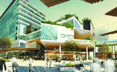 An artist's impression of how Ipswich's redeveloped CBD will look.