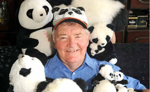 Malcolm 'Mick' Graham shows off part of his Panda collection.