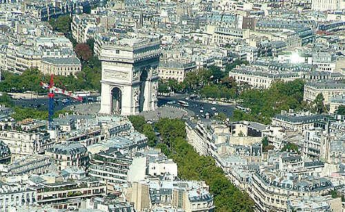 Paris seen from the Eiffel Tower.