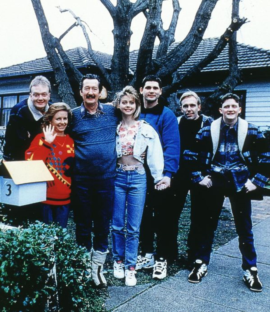 The cast of the 1997 film The Castle.