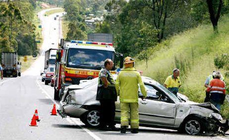 The car crash on the Cunningham Highway.