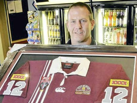 Jason Smith with his 1998 State of Origin winning jersey.