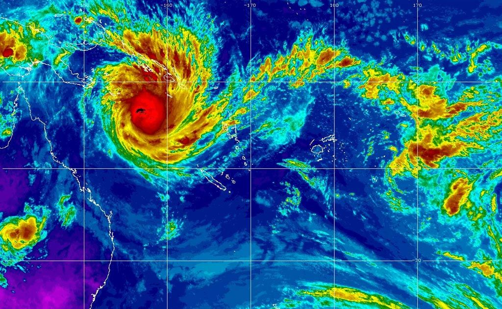 Cyclone Yasi (pictured above) is one of the biggest to have hit the Queensland coast.