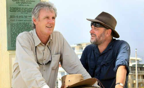 John Doyle and Tim Flannery are filming their new television series at Point Danger.