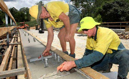 Construction has begun on replacing the old bridge over Snake Creek, Mount Burrell.