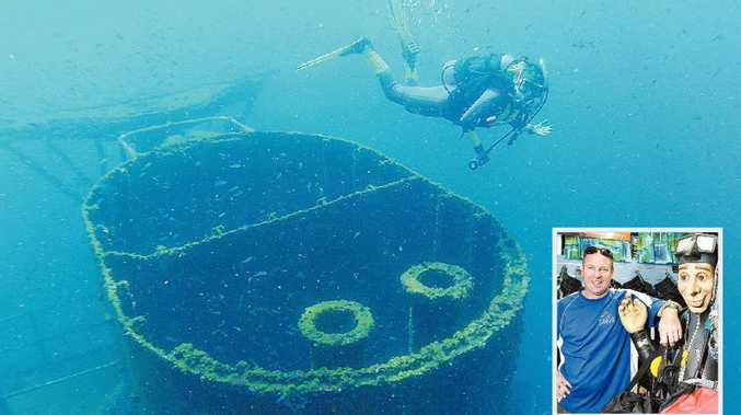 Star Attraction: The HMAS Brisbane wreck is one of the best dive sites in the world. Sunreef co-owner Paul White, inset.